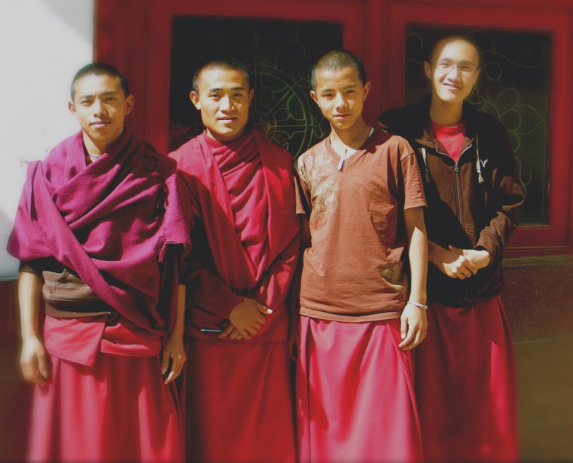 Some of the boys leave the monastery after receiving their education.