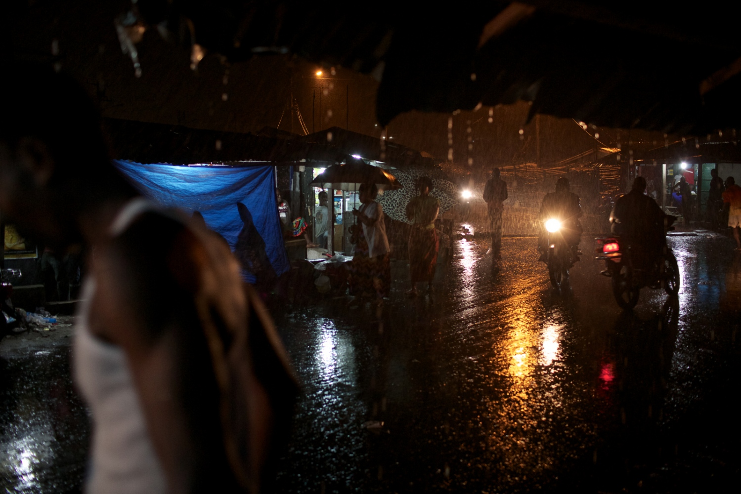 West Point, Monrovia, Liberia. August 2013.  Another rainy night in the West Point township.