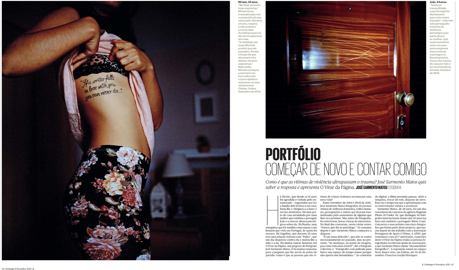Turning the Page featured in 2 magazine. Público.