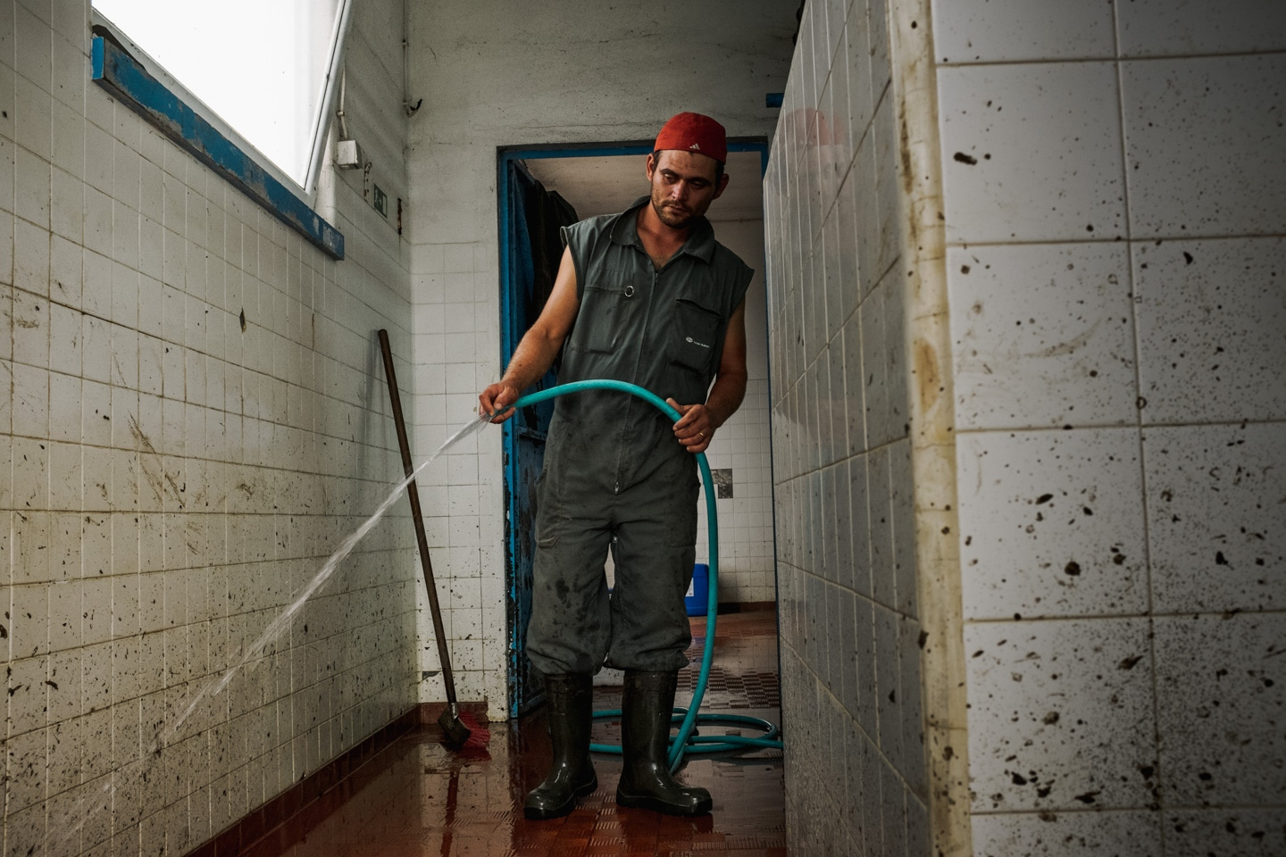 Jorge Pedro (26) is from São Miguel, Azores. Jorge has worked in cow milk production since the age of 17. He also works as a gardener and a gravedigger. São Miguel, Azores. 8th August 2014.