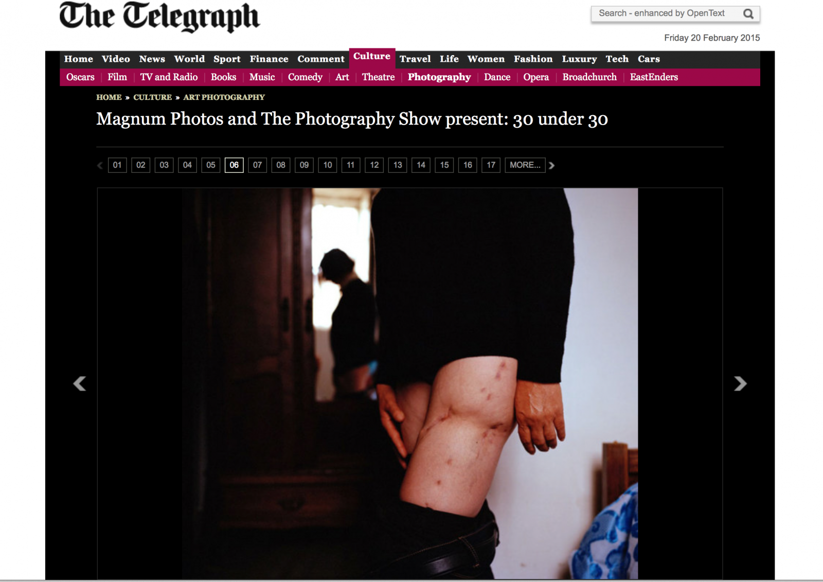 Magnum 30 under 30 in The Telegraph. View here