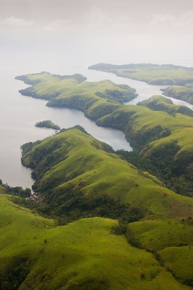 "Some of the impressive ""rias,"" or fjord-like waterways near Tufi in northeastern Papua New Guinea."