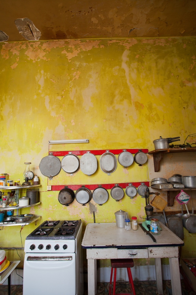 Interior of one of the old upscale mansions in Vedades, a suburb of Havana. Here, the kitchen.