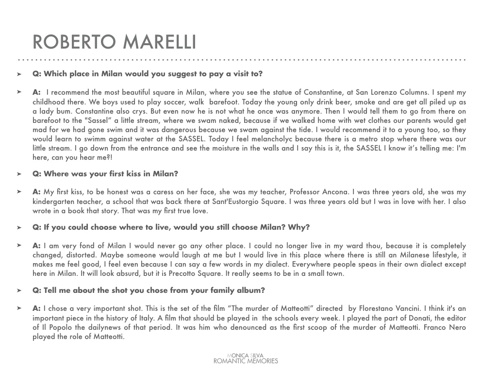 Roberto Marelli - Interview