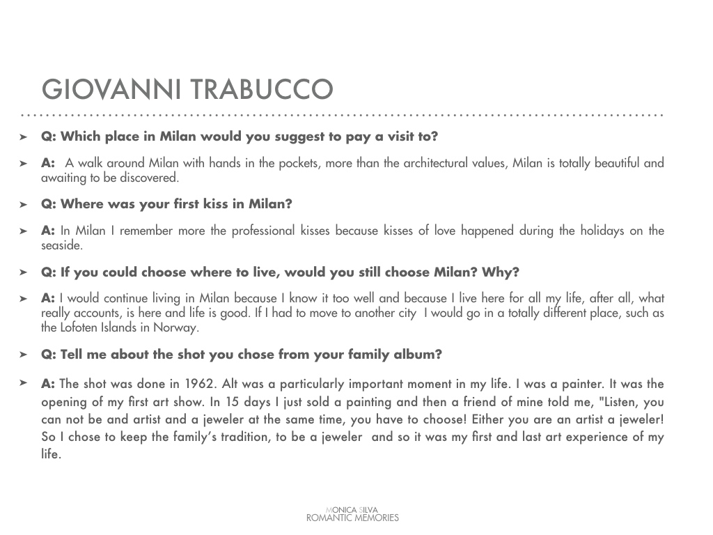 Giovanni Trabucco - Interview