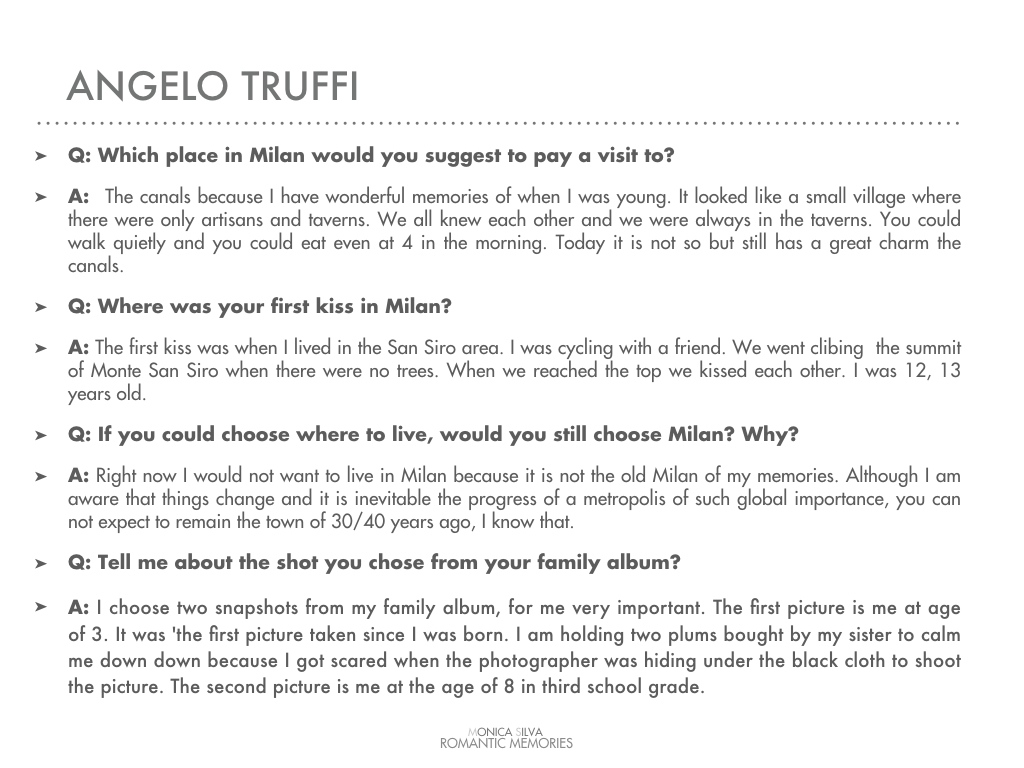 Angelo Truffi - Interview