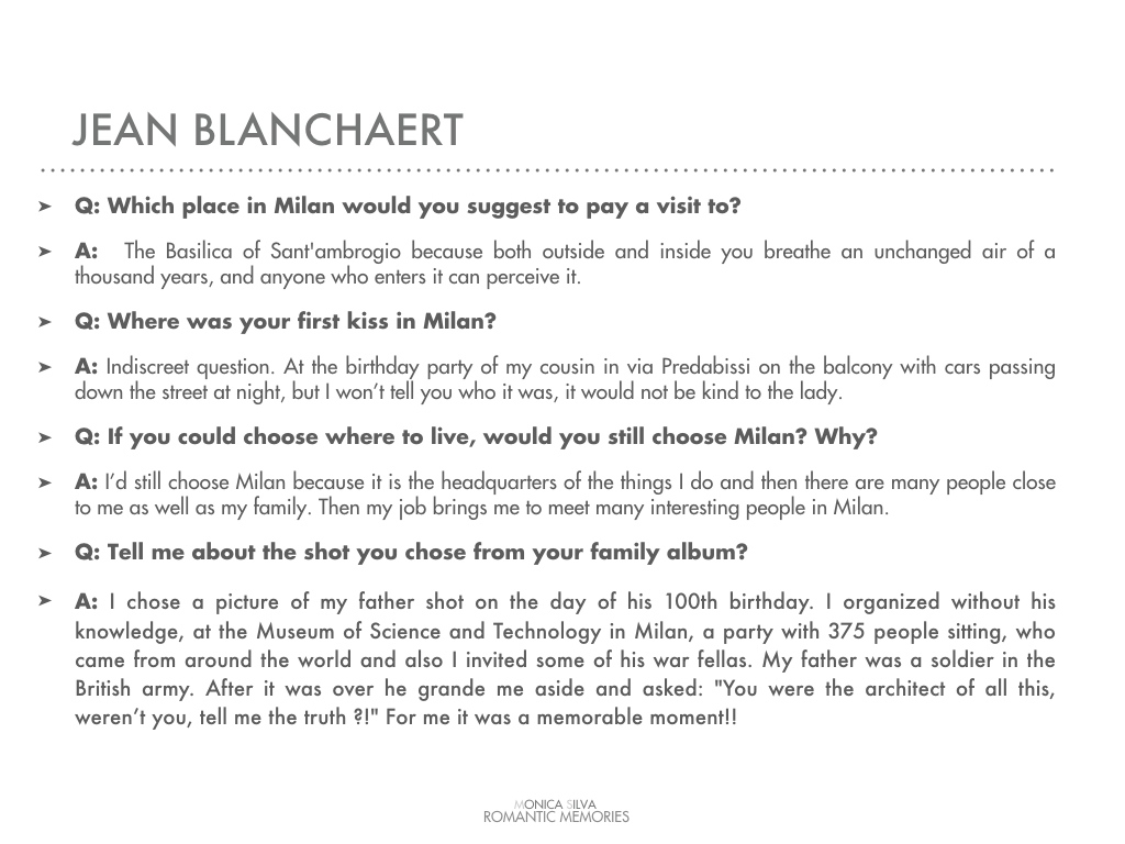 Jean Blanchaert - Interview