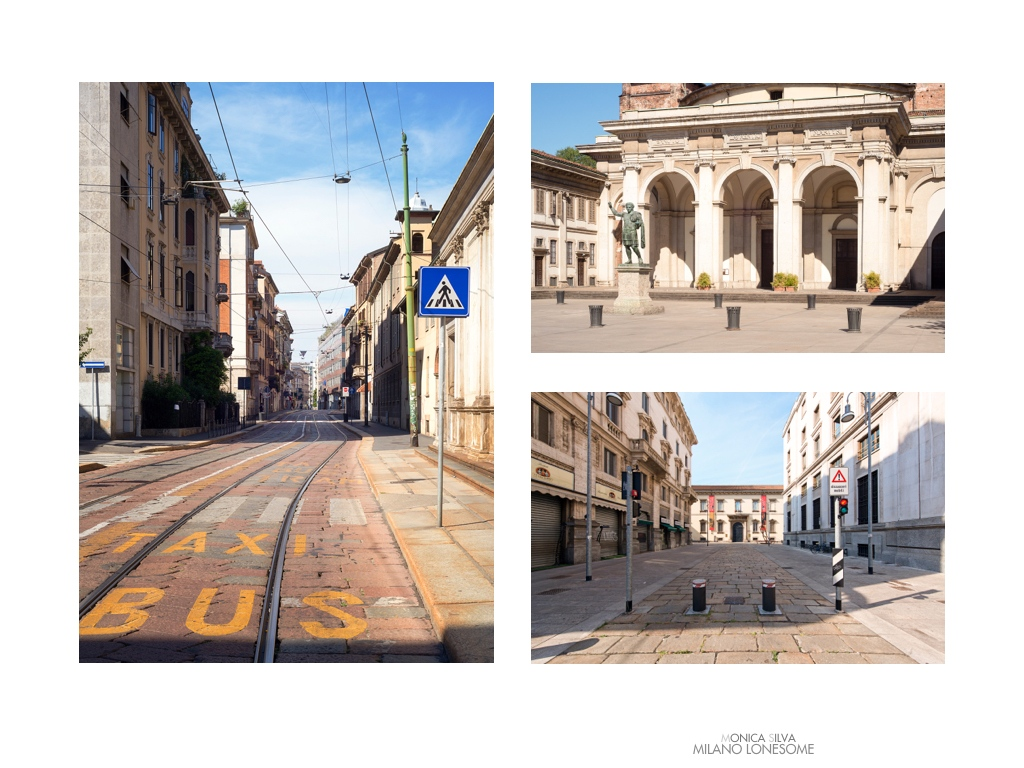 Left image: Corso Italia shot on August 15th, 2016 at 4:31pm Right image top: Piazza Colonne  shot on August 15th, 2016 at 4:42pm Right Image down: Museo Ambrosiano, shot on August 15, 2016 at 10:20am