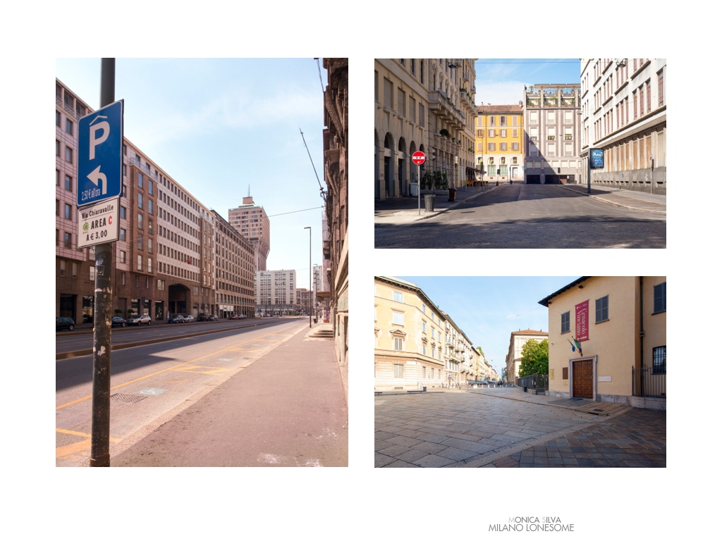 Left image: Via Larga Torre Velasca, shot on August 15th, 2016 at 12:05pm Right image top: Piazza Vetra shot on August 15th, 2016 at 4:37pm Right Image down: Santa Maria Delle Grazie The last Supper Da Vinci, shot on August 15, 2016 at 9:10am