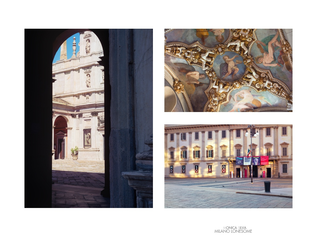 Left image: Santa Maria dei Miracoli, shot on August 15th, 2016 at 16:14pm Right image top: Santa Maria della Passione shot on August 15th, 2016 at 16:37pm Right Image down: Museo del Duomo, shot on August 14, 2016 at 7:23am
