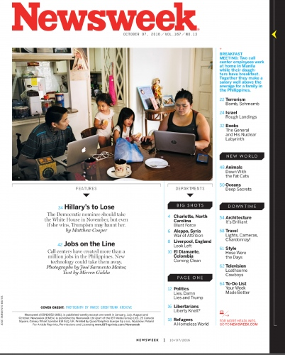 Newsweek Magazine. 7/10/2016