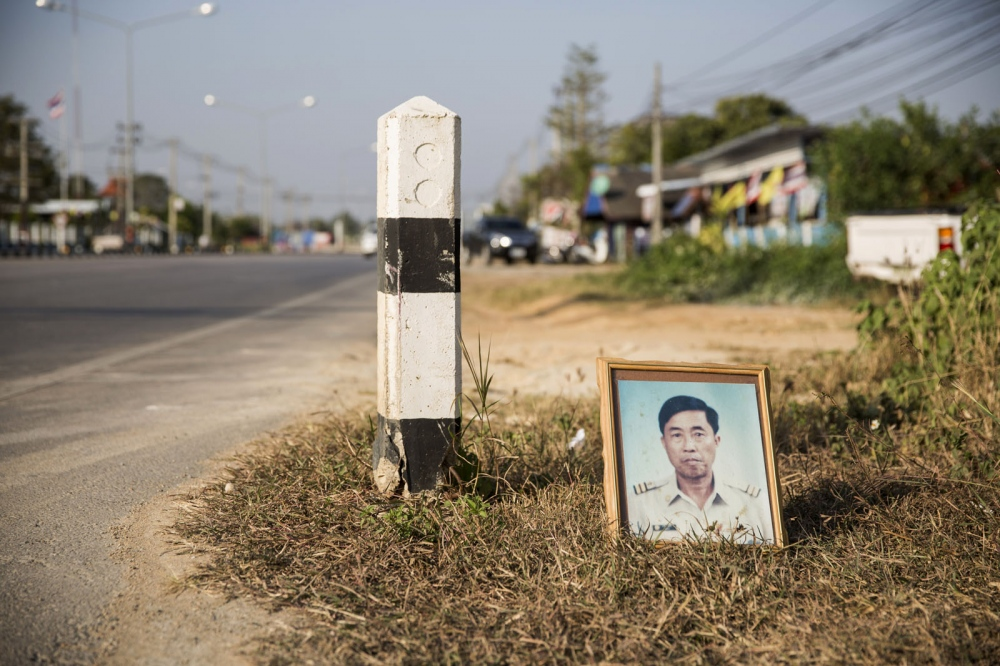 Kampan Suksai was shot dead on the main road running through Pa Ngam village in Chiang Mai Province on the 20 December 2003. He was a village head who was opposing the encroachment into a nearby community forest.