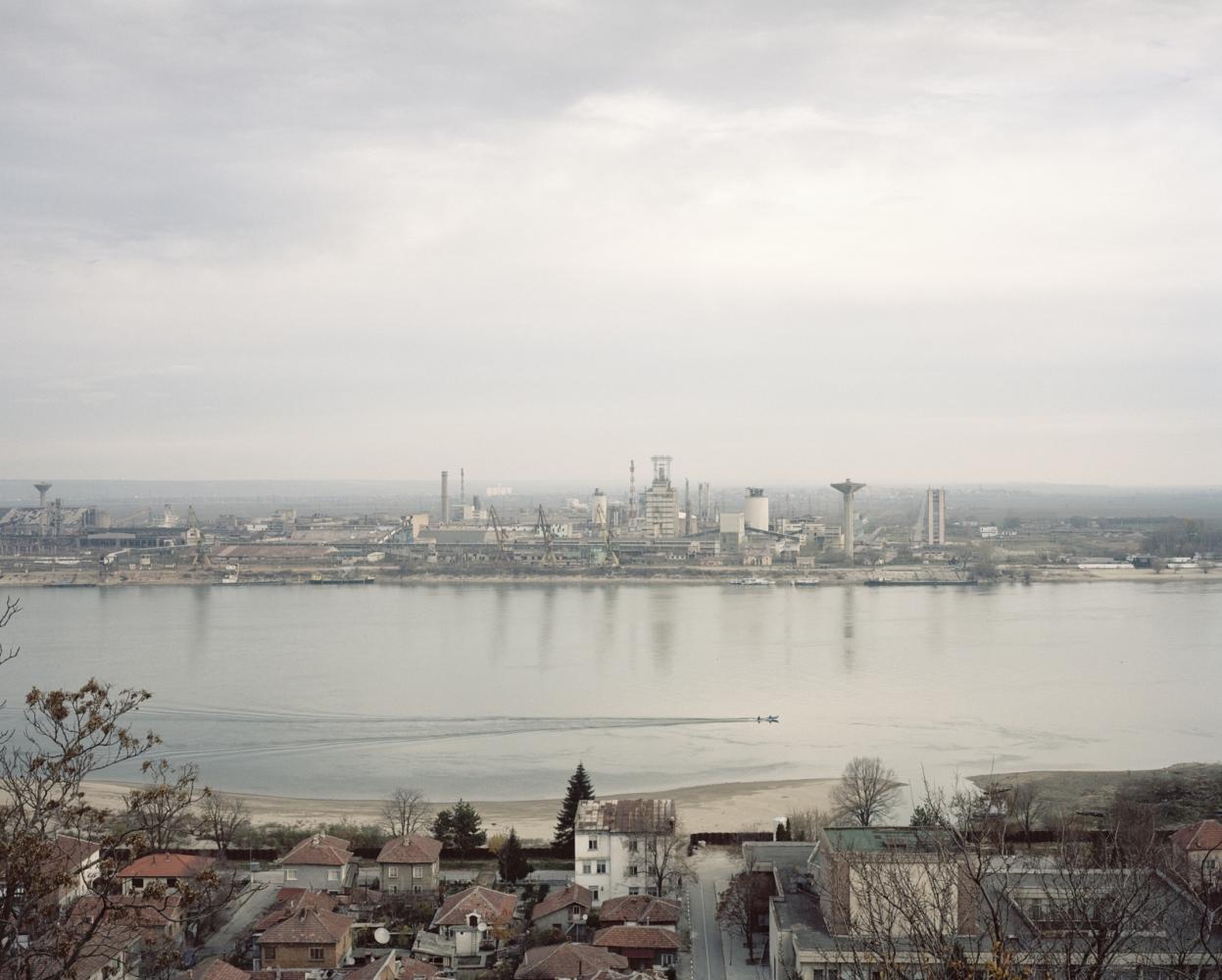 Bulgaria, Nikopol. A view of Turno Magurele industrial area. Turno Magurele industries caused a massive pollution of the area.