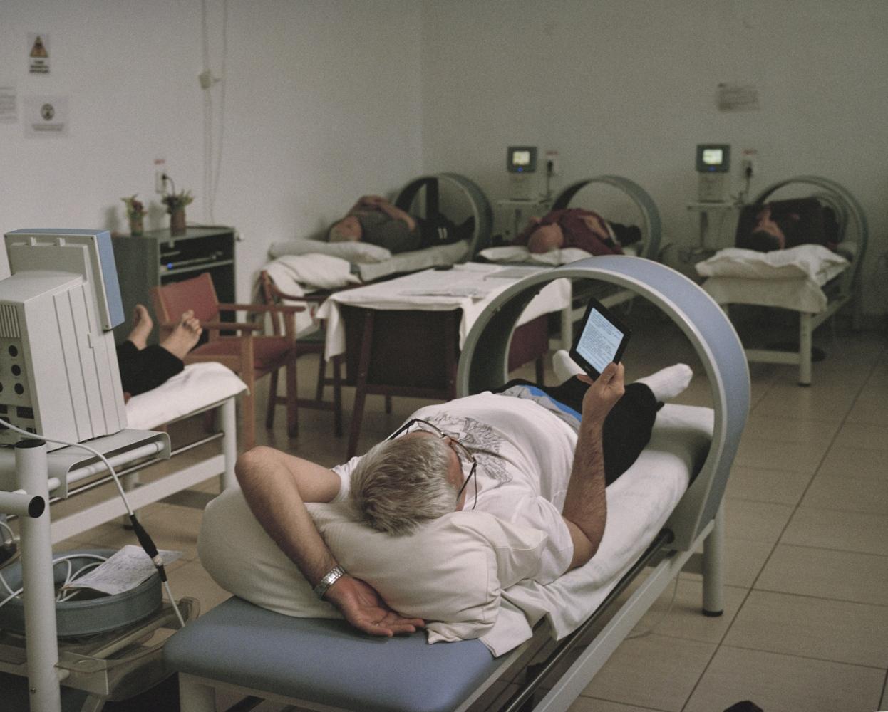 Romania, Techirghiol. A view of a sanatorium