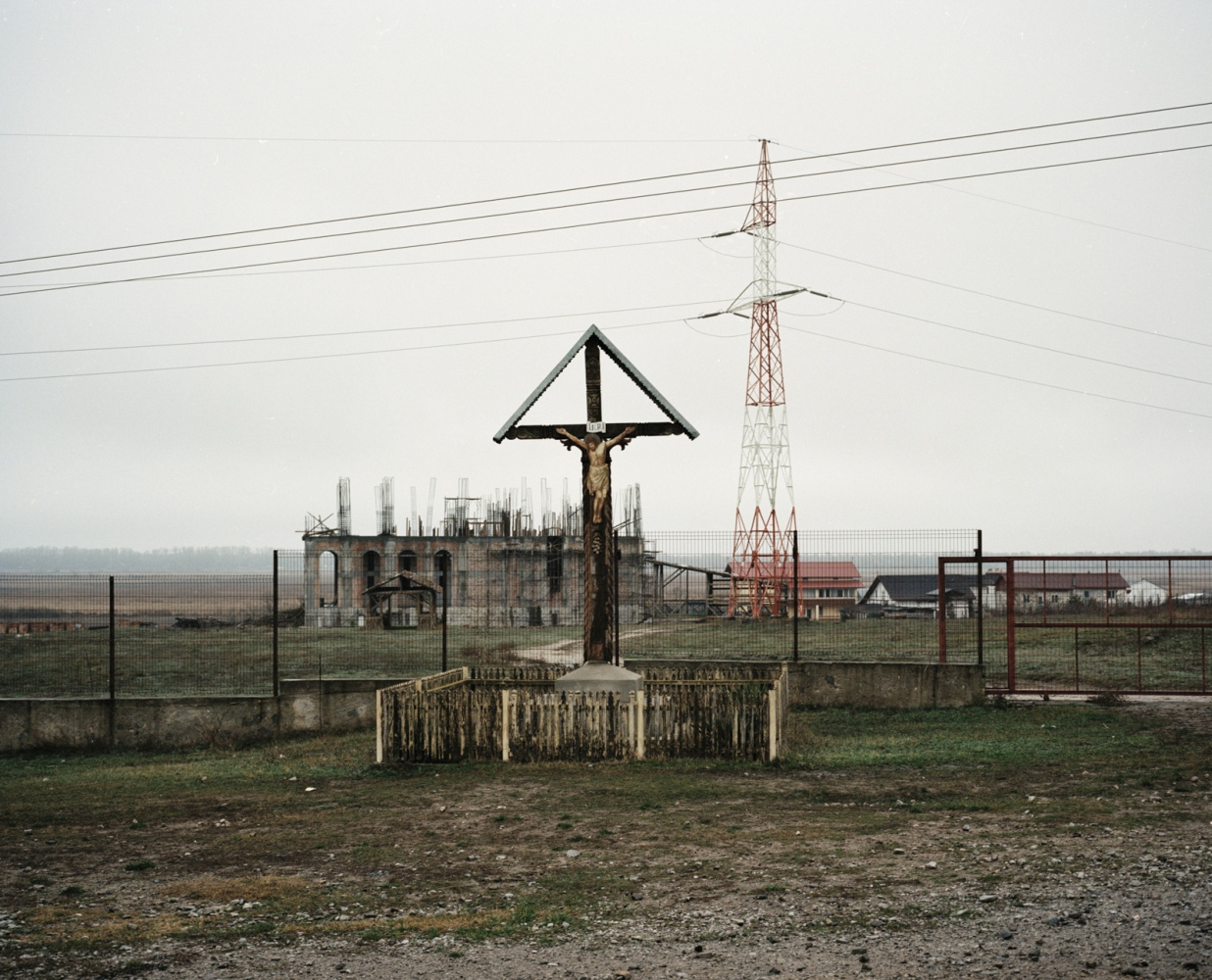Romania, Tulcea. A church has been built in the countryside of Tulcea. After the fall of the comunism regimen, religion became more and more popular.