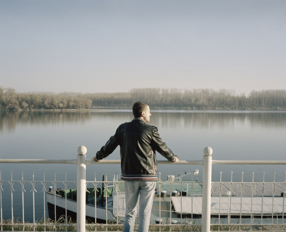 Bulgaria, Vidin. An unemployed man look at the Danube. Vidin has one of the higher unemployment rate of Bulgaria.