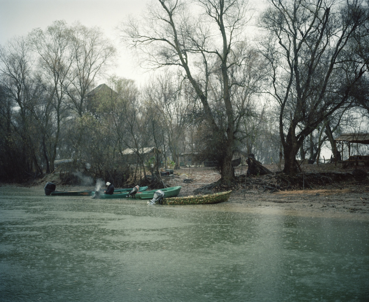 Romania, Tulcea. Fishermen prepare for a day of work. In Romania is now forbidden to fish sturgions because in risk of extinction but on the other side of the Danube Delta, in Ukraine, the fishing is still allowed.