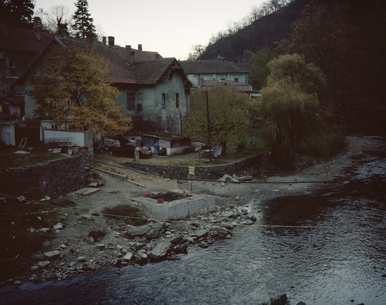 Romania, Baile Herculane. a view of a popular thermal resort.