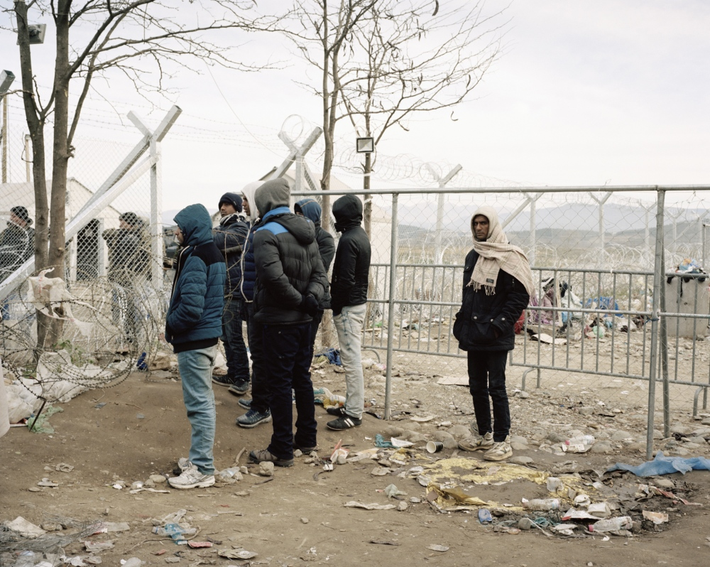 Greece, Idomeni. Refugees stranded on the Greek border with the Republic of Macedonia.