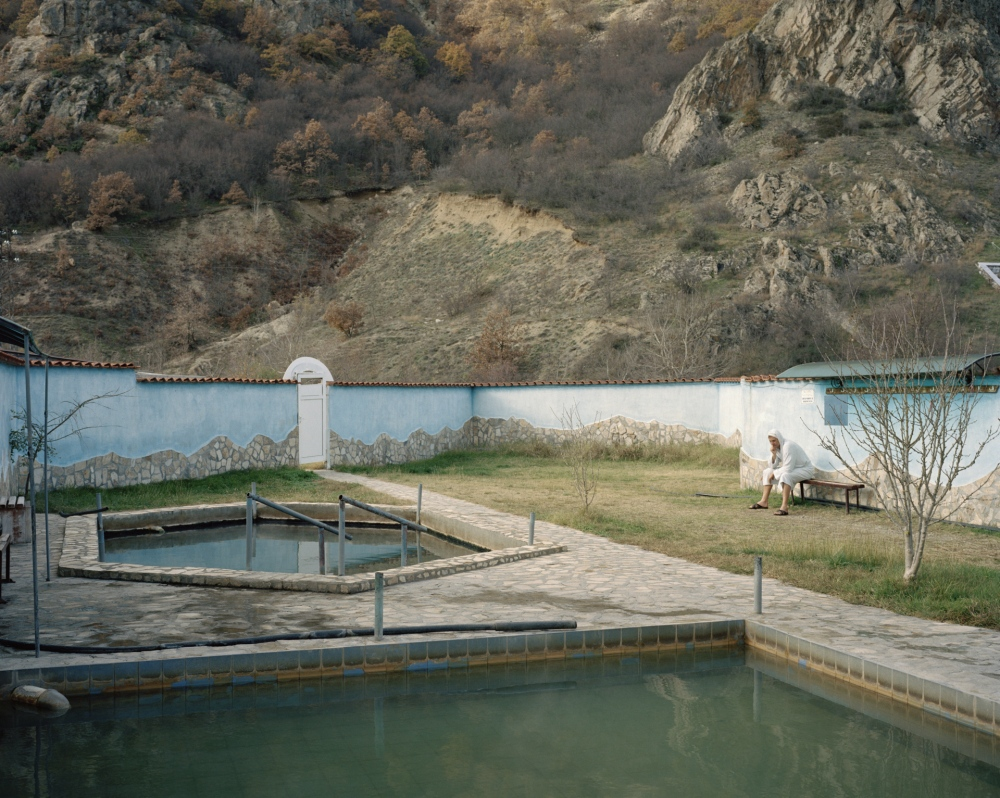 Bulgaria, Rupite. Thermal bath facilities.