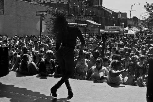 Drag Performance inQueens Gay Pride celebration, held in Jackson Heights.