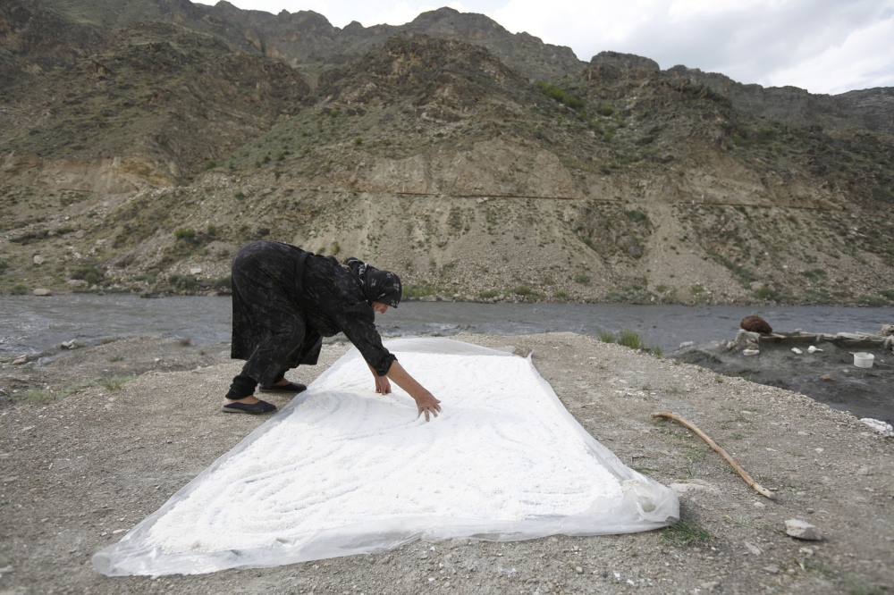 One of 4 remaining women salt makers who follow an age-old tradition in Kvankhidatli village, high up in the mountains of Dagestan, a little known Republic in Southern Russia.