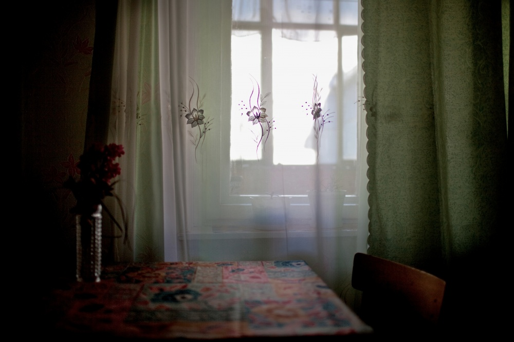 An interior view from the home of a Russian German family living in Syktyvkar, Russia.