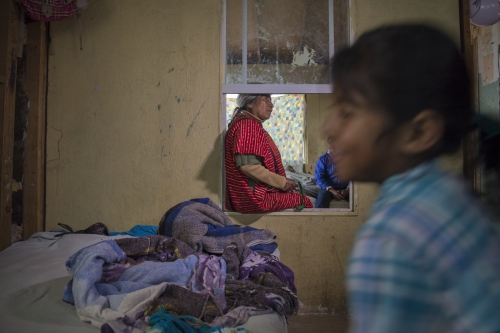 Francisca Ramirez at her daughter's house in San Quintin. Ramirez is originally from Oaxaca but moved with her family to Baja California in northern Mexico in hopes to escape a life of starvation.