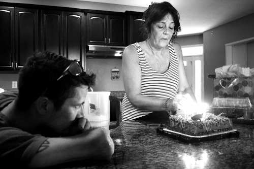 Lake Ozark, Missouri, USA. 2015. Todd nicely and his mother, Julie, celebrating her birthday.
