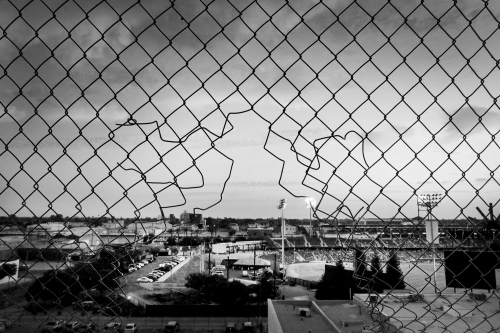 Fresno, California, 2013 A view of Fresno from up high, considered to be the world capital for methamphetamine abuse. The main reason for this is its geographic position, in the middle of the rural Central Valley, numerous illegal drug production plants have been able to rise up and Fresno is in fact to all effects a hub for the distribution of the product to the other cities of the united states.