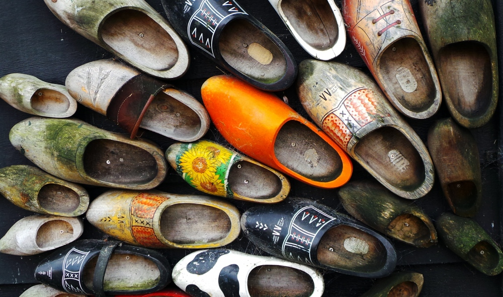 Wooden shoes are a true symbol for Holland, just as much as windmills, tulips, and cheese.