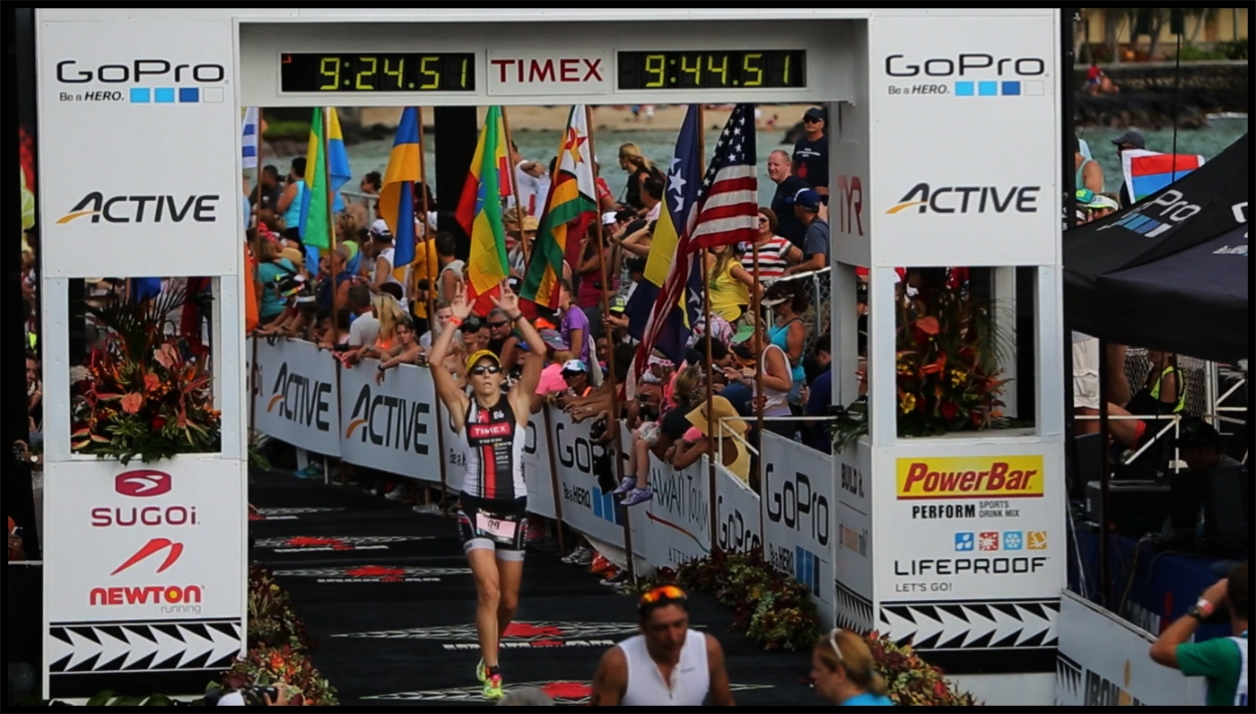 Finish line, Kona