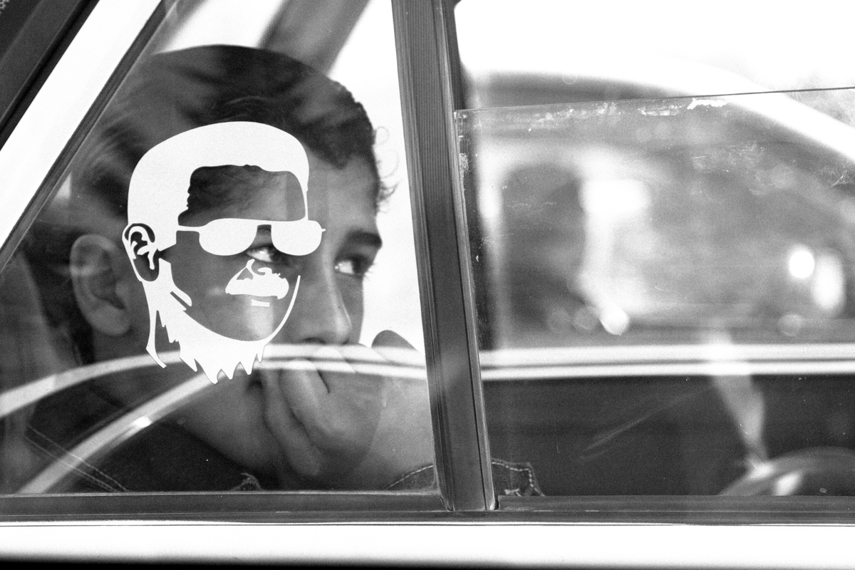 Back of a taxi car, Damascus 2010.