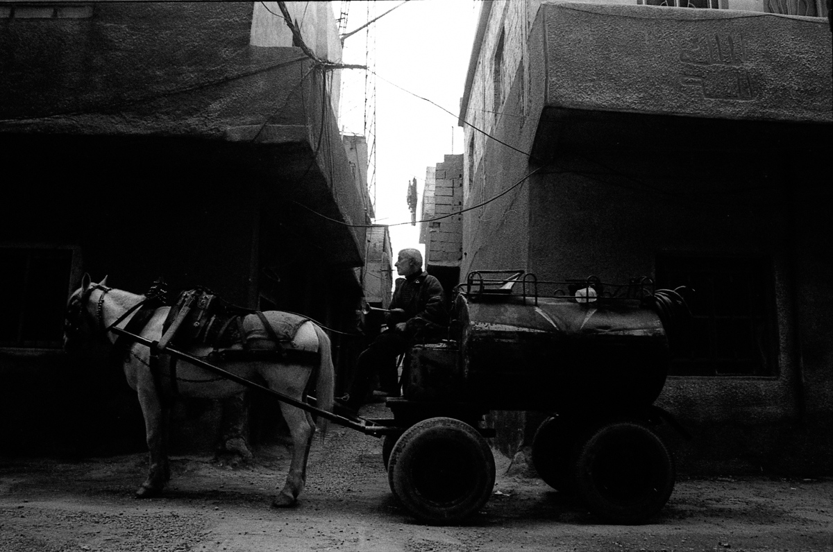 Deisel wagon, deisel is the main fuel for heating and erragation in Syria. Damascus 2009