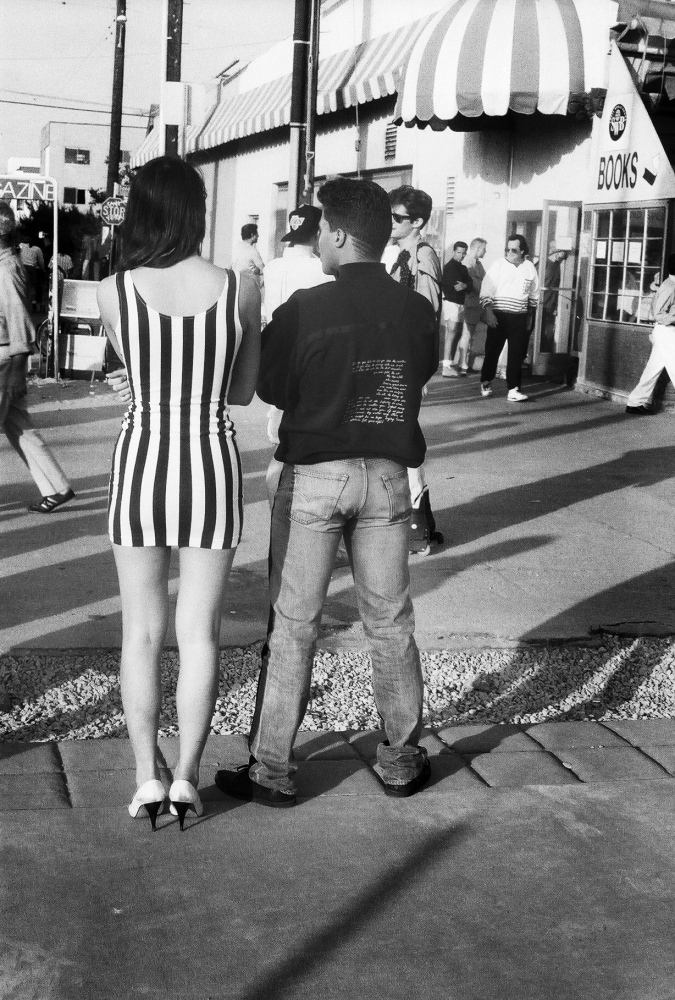 Man with Lady in Stripes