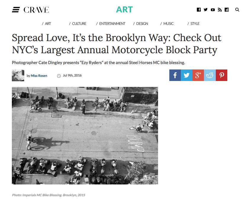 """Spread Love, It's the Brooklyn Way: Ezy Ryders,"" Crave 2016"