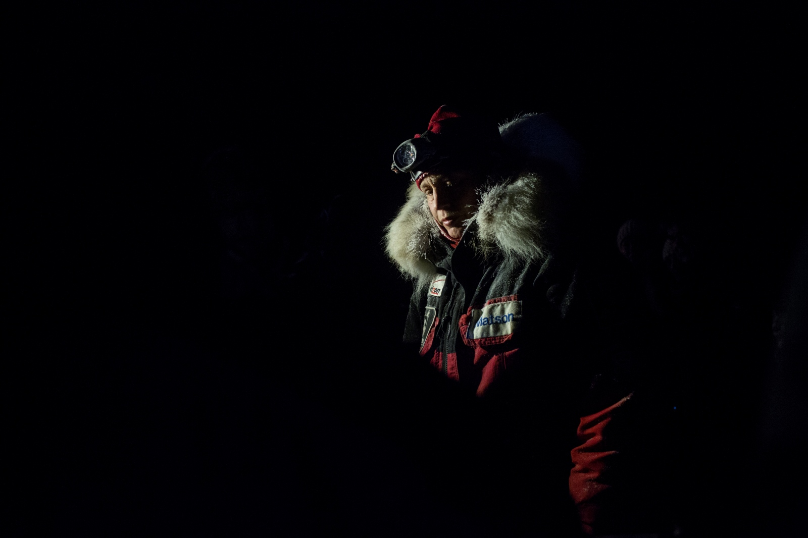 Aliy Zirkle, after arriving third in Unalakleet in the early morning hours of March 13, 2016.