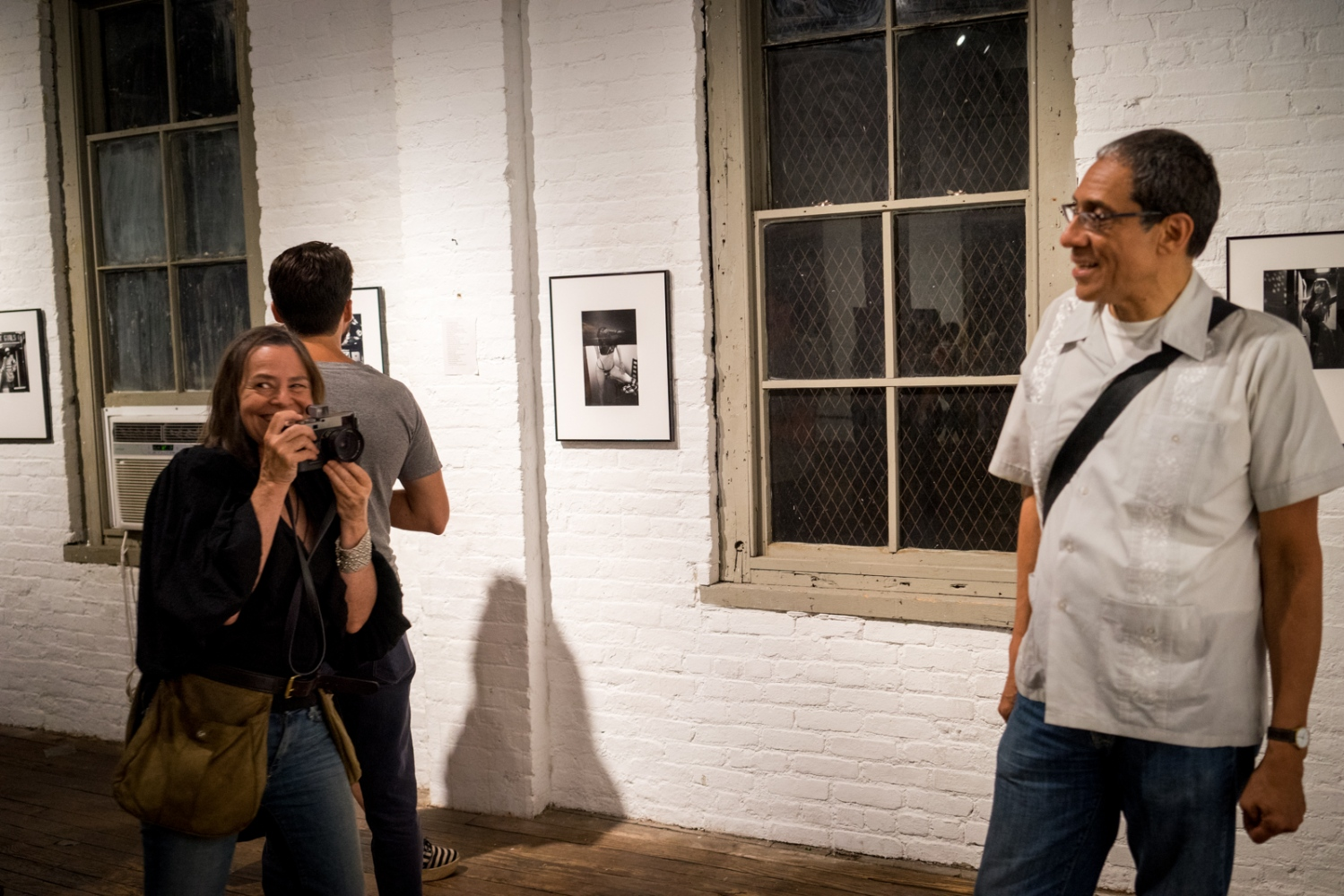 "Donna Ferrato & Joseph Rodriguez at ""Rear Windows"" at Invisible Dog Gallery, Brooklyn, NY 2015"