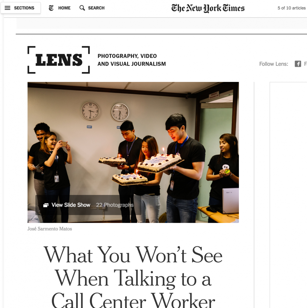 New York Times Lens Blog. 17/11/2016