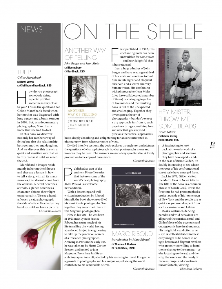 Black & White Photography magazine book review.