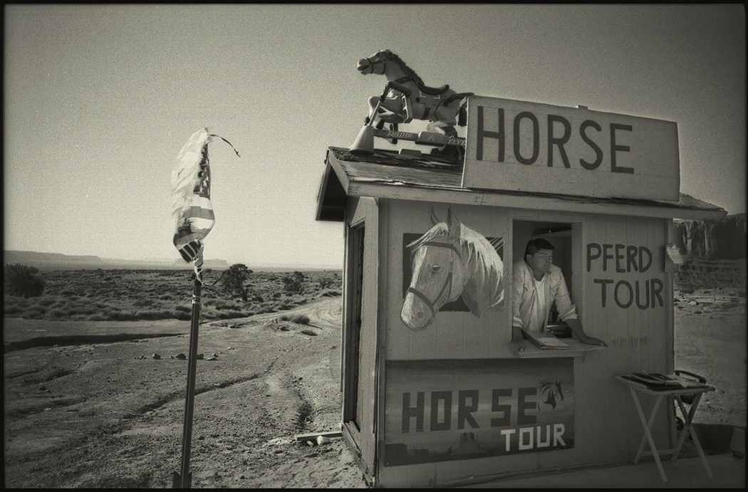 Kiosk at main visitor center, Monument Valley, Navajo Nation, Utah. August 2015.
