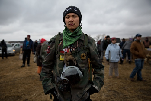 November 24, 2016 - Cannon Ball, North Dakota, United States: Chanse Adams Zavalla, of California, arrived four months ago and is prepared to stay until the end.