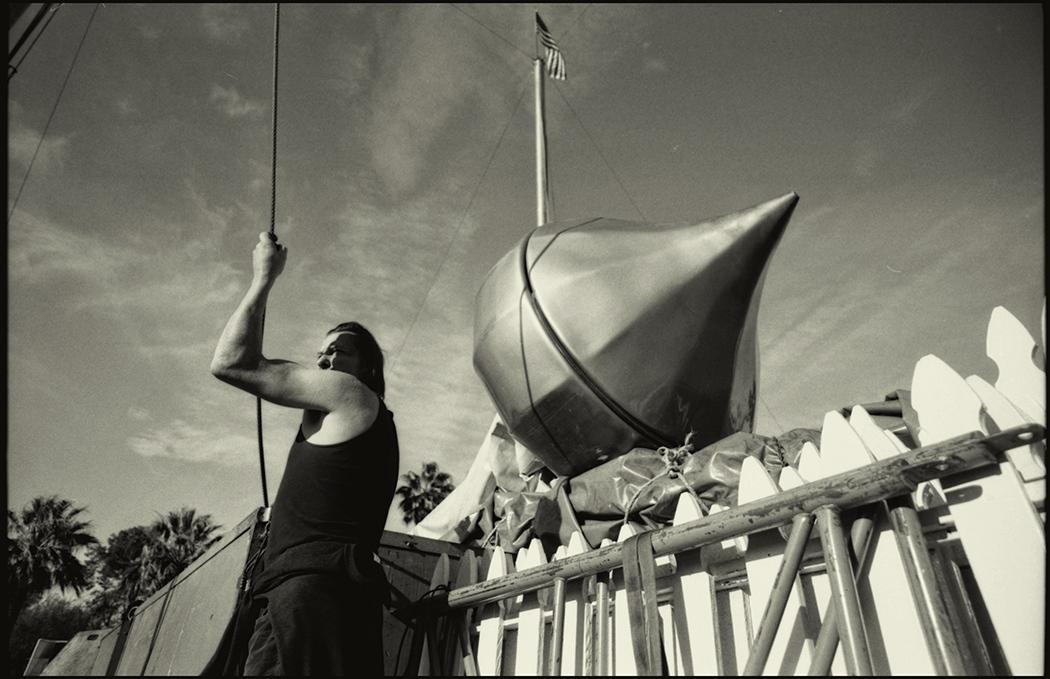 Raising the tent, Tucson, Arizona, 2014.