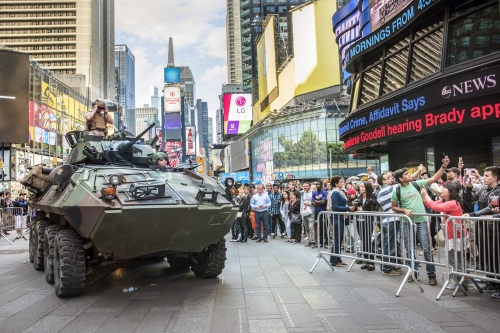 Armored vehicle, NYC, 2015