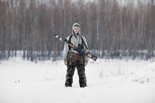 """Andrei, the hunter.  """"Our culture and our beliefs are intimately attached to the taiga.We believe in the spirits that live in the forest, in the fire, they help us during the hunt."""""""