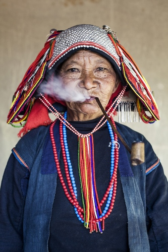 Hani woman, chinese etnic group