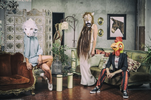 Models in Rooster shop,  second-hand and brand new clothing and accessories in one of the most intriguing hoods of Turin