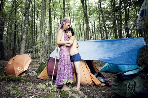 Mother and son at the Rainbow summer gathering in Slovakia in 2012