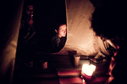 a tend in the European rainbow gathering
