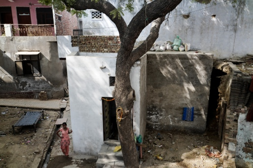 Agra, India. November 08, 2016.Geeta and Neetu's house in the Shahganj part of Agra. The house was completely renovated this year thanks to a government compensation for acid attack victims.